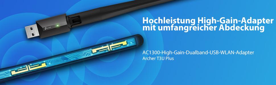 Tp Link Archer T3u Plus Ac1300 High Gain Dualband Usb Elektronik