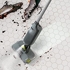 Clean stuck on grime with the VacMop