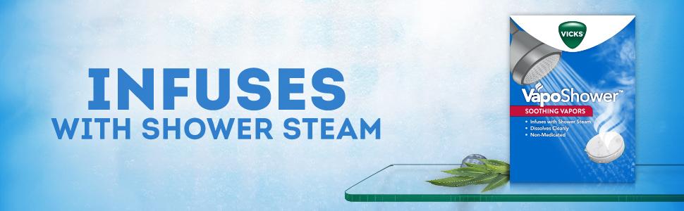 shower steam, steam, vaposhower, vicks