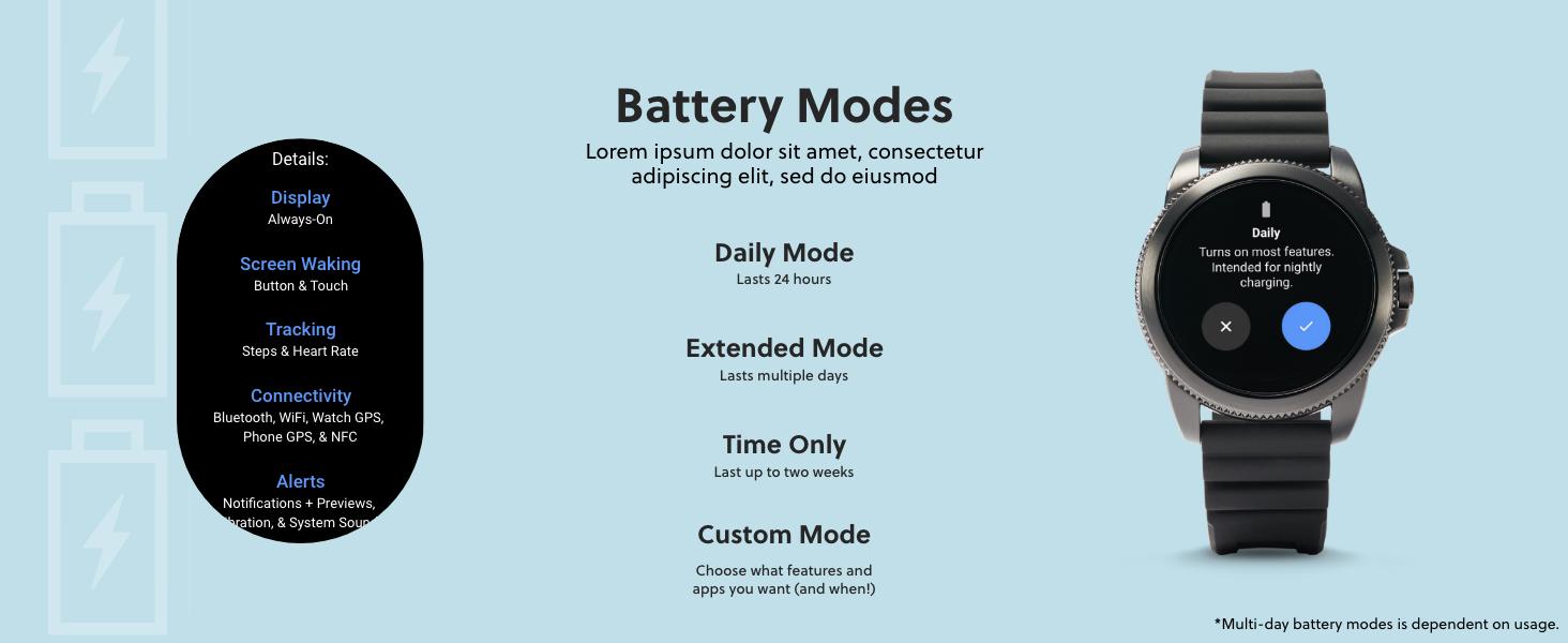 Gen 5E battery mode