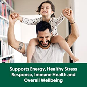 Supports Energy, Healthy Stress response, immune health and overall wellness