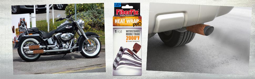 heat wrap, motorcycle, car exhaust, DIY