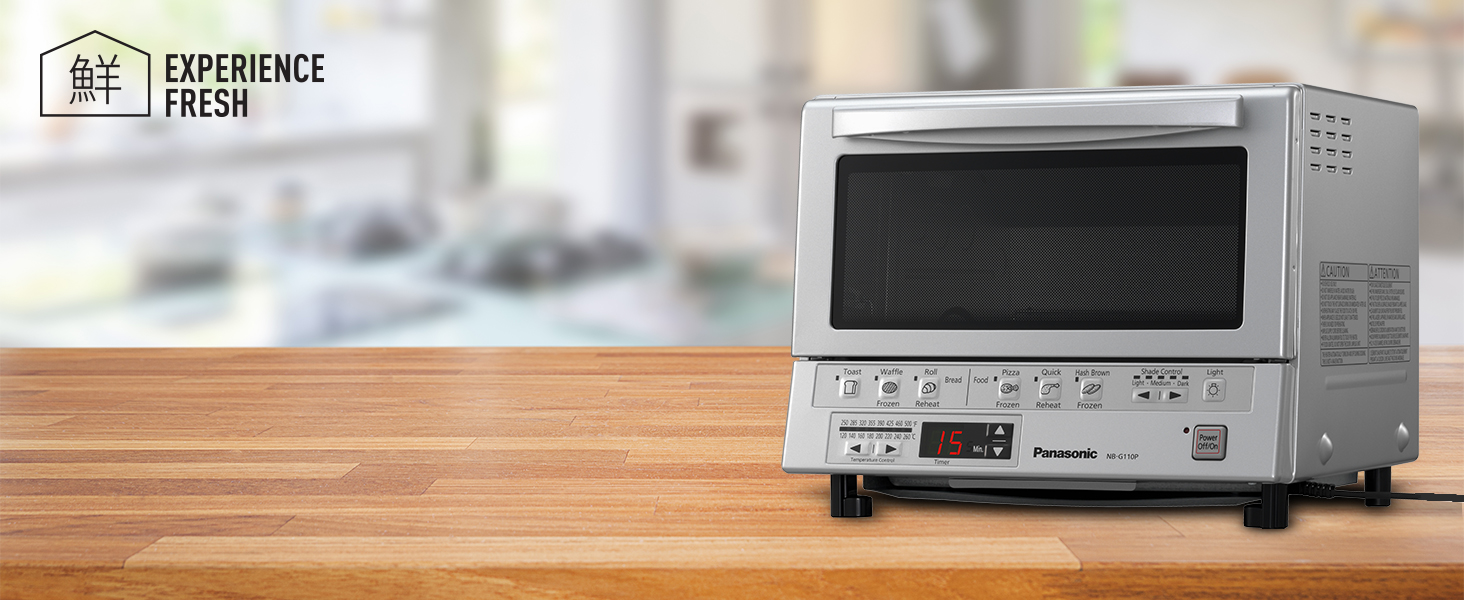 Panasonic NB-G110P-S Flash Xpress Toaster Oven - silver