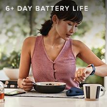 woman eating breakfast fitbit versa 2