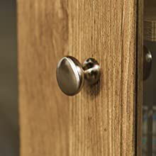 hardware detail, hardware close up, metal handle, silver finish, barnwood finish, wood grain finish