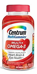 Centrum MultiGummies Multi + Omega-3