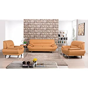 Leather Livingroom Sofa Set