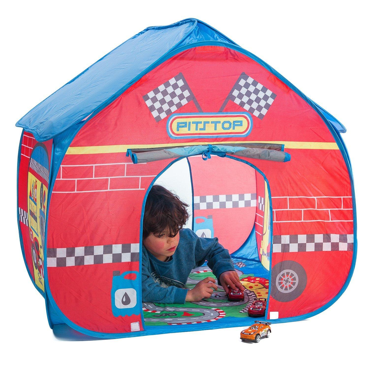 Fun2give Pop It Up Pit Stop Tent With Race Mat Playhouse