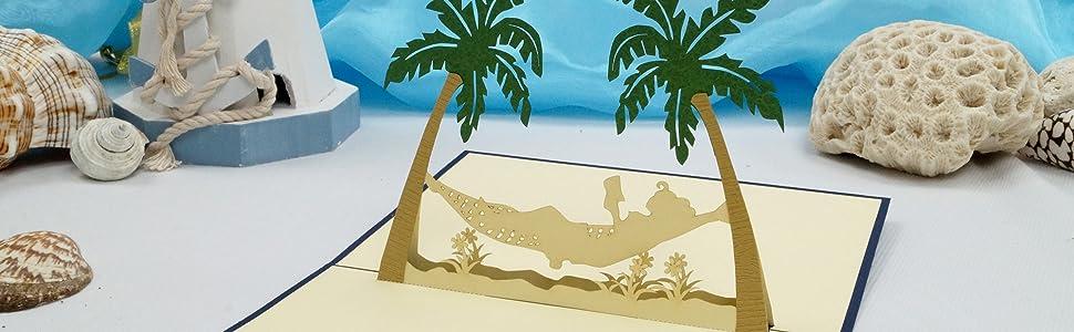 Urlaub,Gutschein,Urlaubsgutschein,Pop Up,Gutscheinkarte, Urlaubskarte