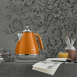icona capitals orange kettle delonghi