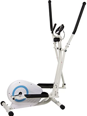 no bland Elliptical Cross Trainer,2020 Magnetic Cardio Workout with 8-level Magnetic Resistance,with LCD Monitor