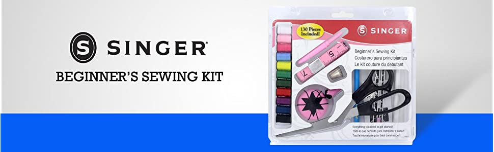 singer beginner sew kit project starter basic kids girls sewing notions fabric scissors supplies