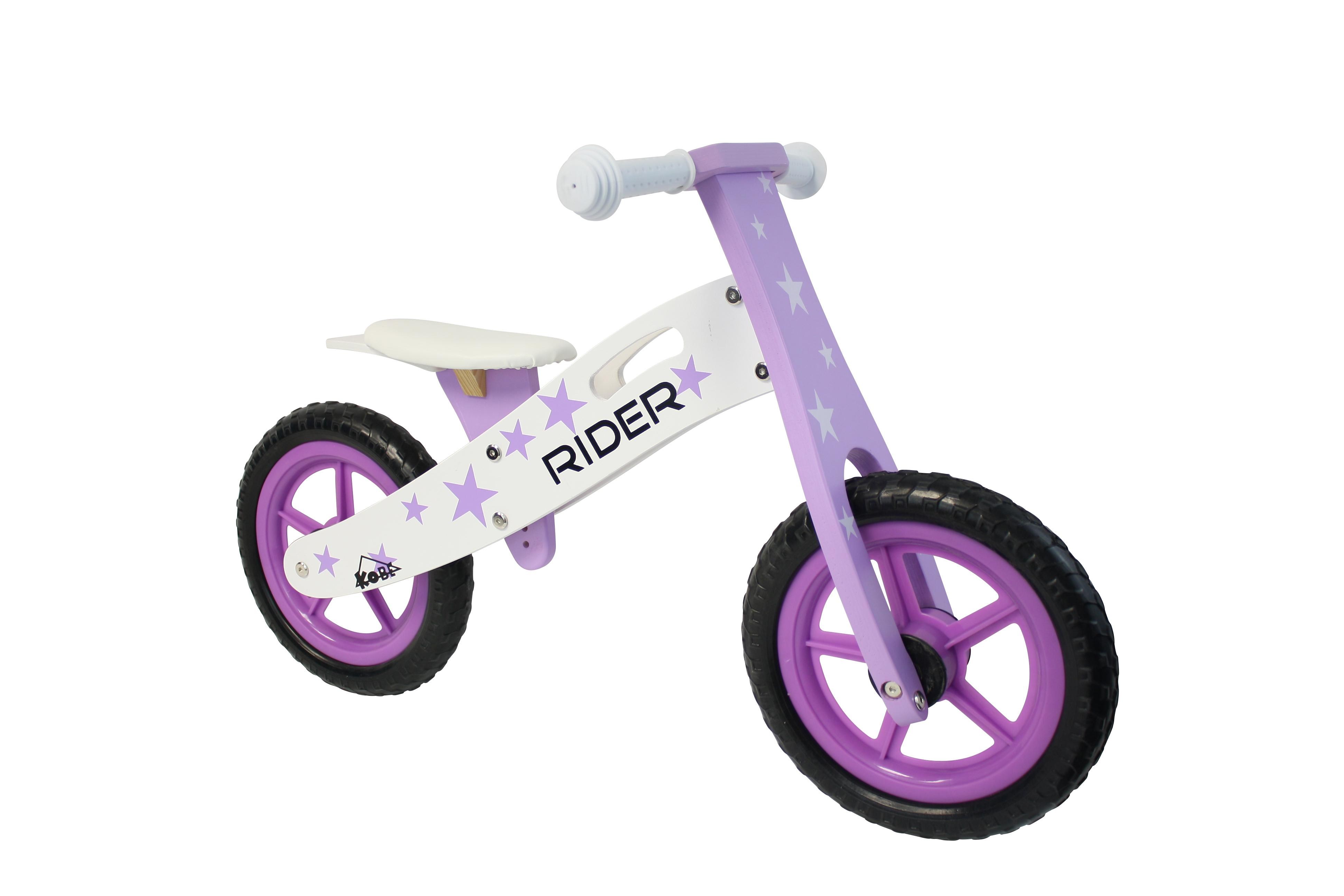 Kobe Wooden Balance Bike Purple Rider Purple And White Amazon