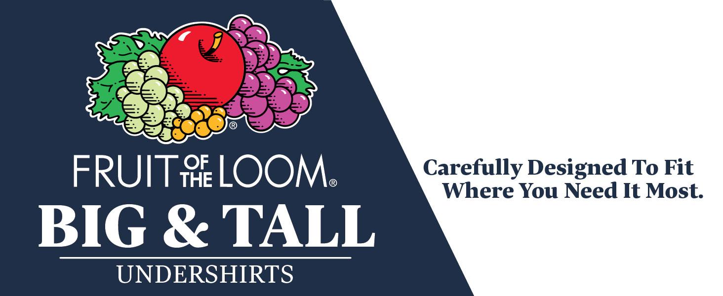 Fruit of the Loom Mens 3-Pack Premium Big Man Crew