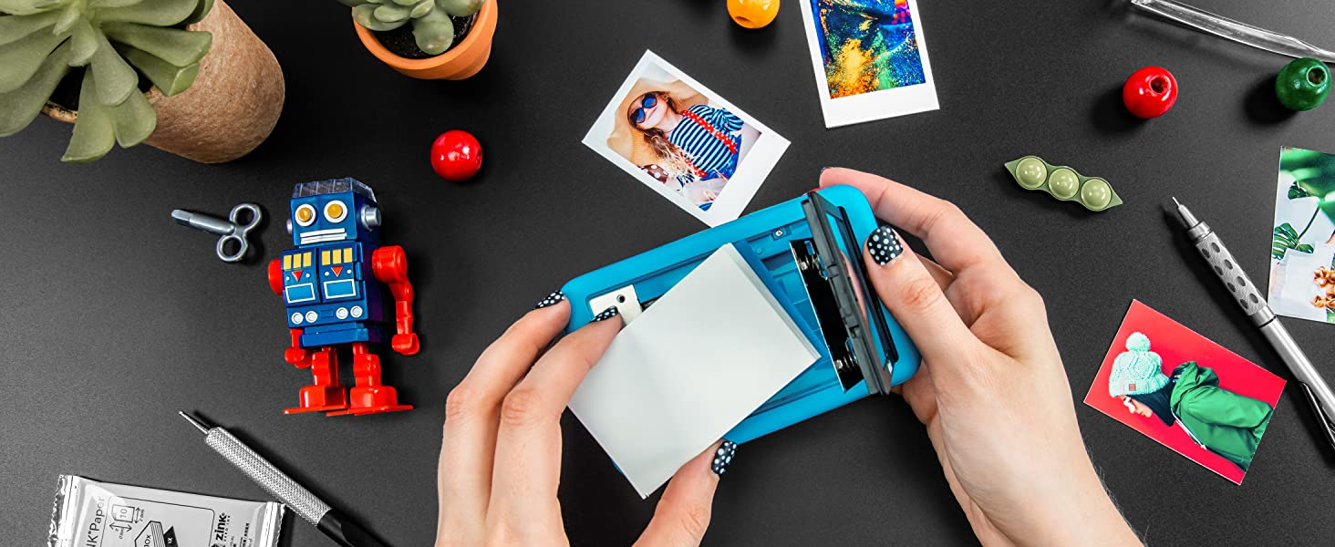 Polaroid snap touch detailed photos load paper