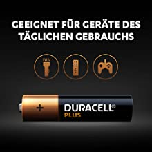 Duracell Plus-batterier är alkaliska multifunktionsbatterier och eigektroniska vardagliga enheter.