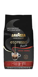 lavazza, espresso, barista, gran, crema, coffee