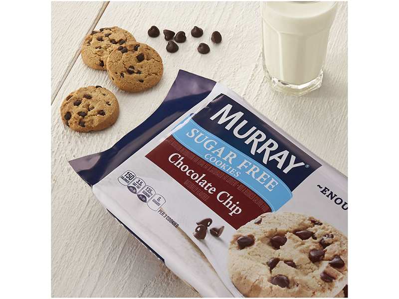 Murray chocolate chip cookies and milk
