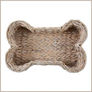 Hyacinth Pet Bone Shape Basket from Bone Dry in the color White Wash.