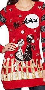 Santa Christmas Sweater, funny christmas sweater, Cat Christmas Sweater, Funny Christmas Sweater
