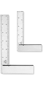 GROZ 4-inch Graduated Steel Square