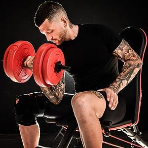curl workout rack opti york iron pro wonder core bumbells cast body pump and dumb bells pres pro gym