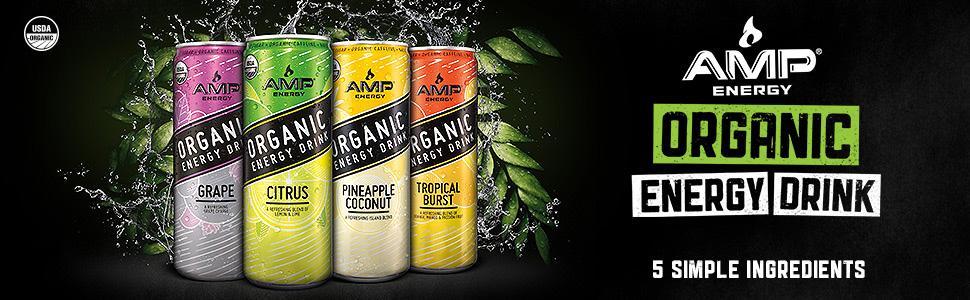 AMP Organic Energy Drink 12-Pa...