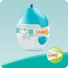 Pampers Baby-Dry Nappies with 3 Absorbing Channels