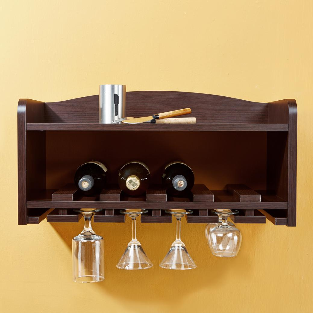 Amazon ioHOMES Venire Wall Mounted Wine Rack and