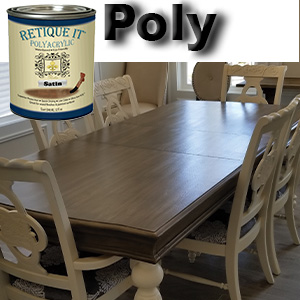 polyacrylic,polyurethane,poly,top coat,retique it,chalk paint,clear satin