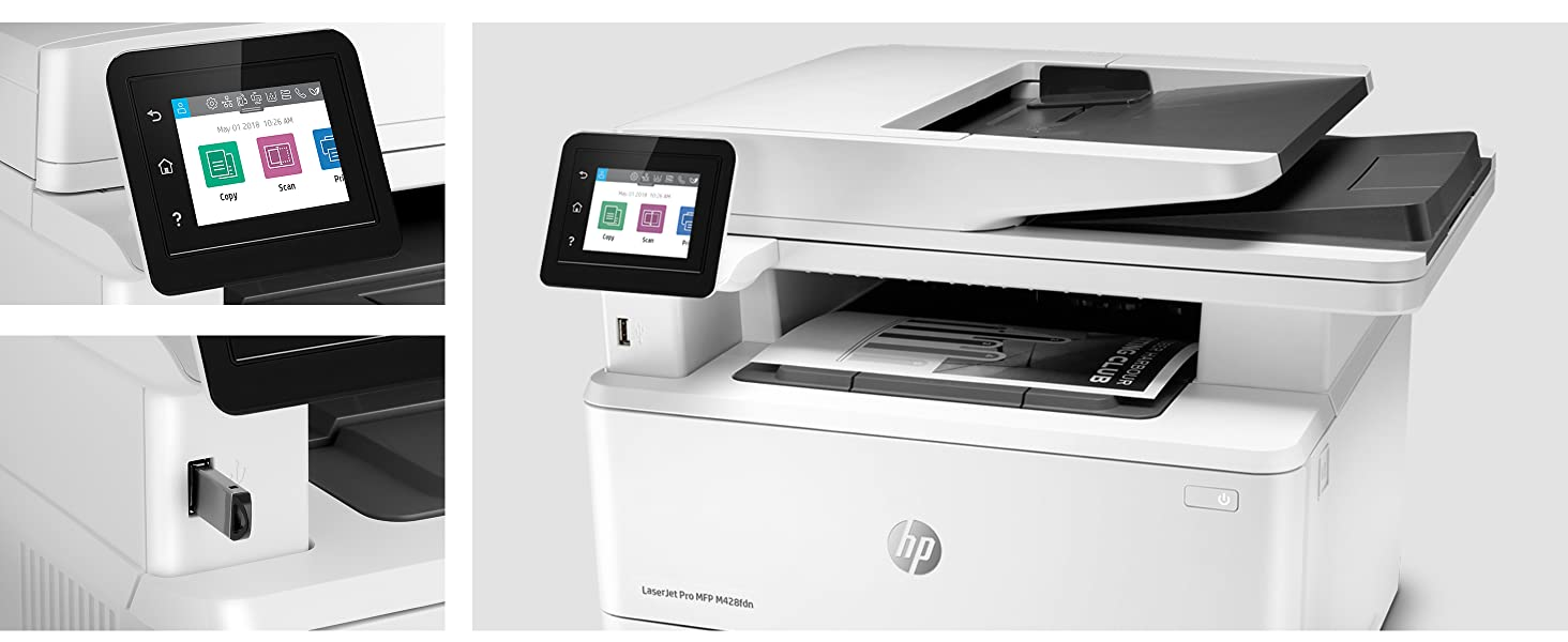 Hp Laserjet Pro M428fdn Multifunktions Laserdrucker Computer Zubehör