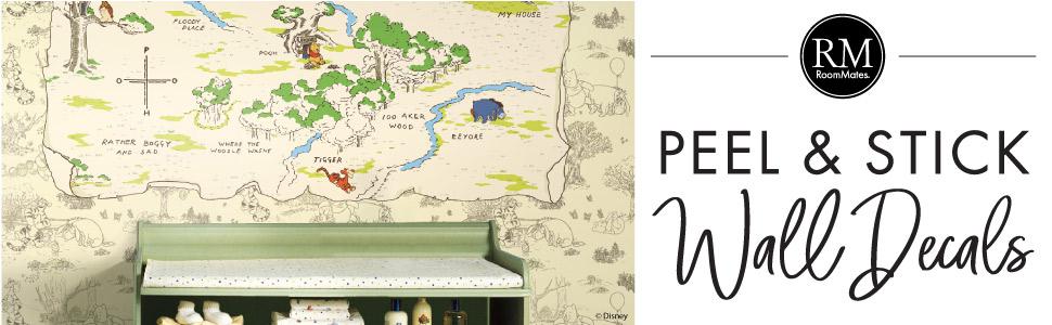 Winnie The Pooh 100 Aker Wood Peel and Stick Map