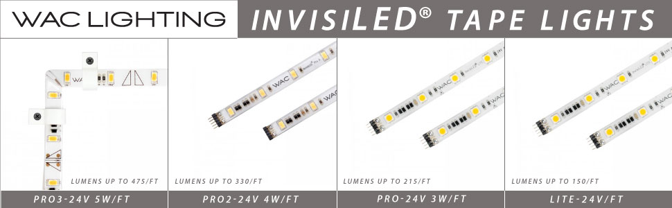 WAC Lighting LED-T2430-2IN-WT 2-Inch 24V InvisiLED Classic 3000K Light