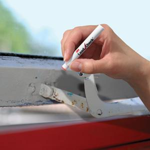 Test lead on window paint