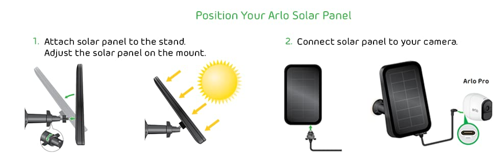 Amazon com : Arlo Accessory - Solar Panel | Compatible with
