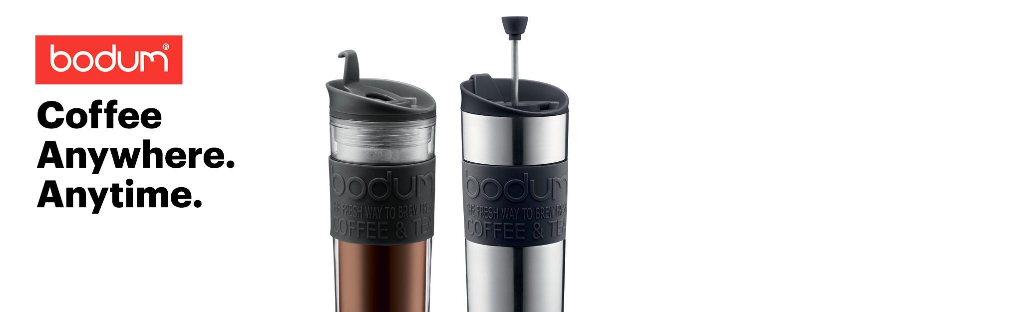 amazon com bodum insulated plastic travel mug 0 45 liter 15 ounce