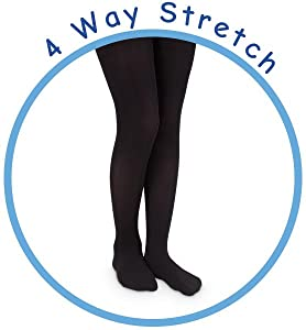 girls solid nylon tights