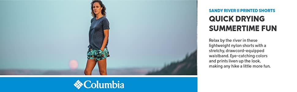Columbia Women's Sandy River II Printed fun summer Shorts