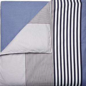 comforter duvet colorblock reversible blue black white lacoste crocodile polo