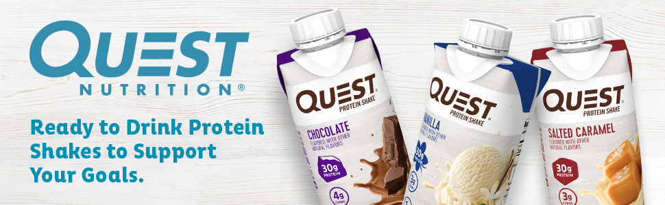 Amazon.com: Quest Nutrition Ready to Drink Salted Caramel Protein Shake, High Protein, Low Carb, Gluten Free, Keto Friendly, 11 Fl Oz (Pack of 12): Health & Personal Care