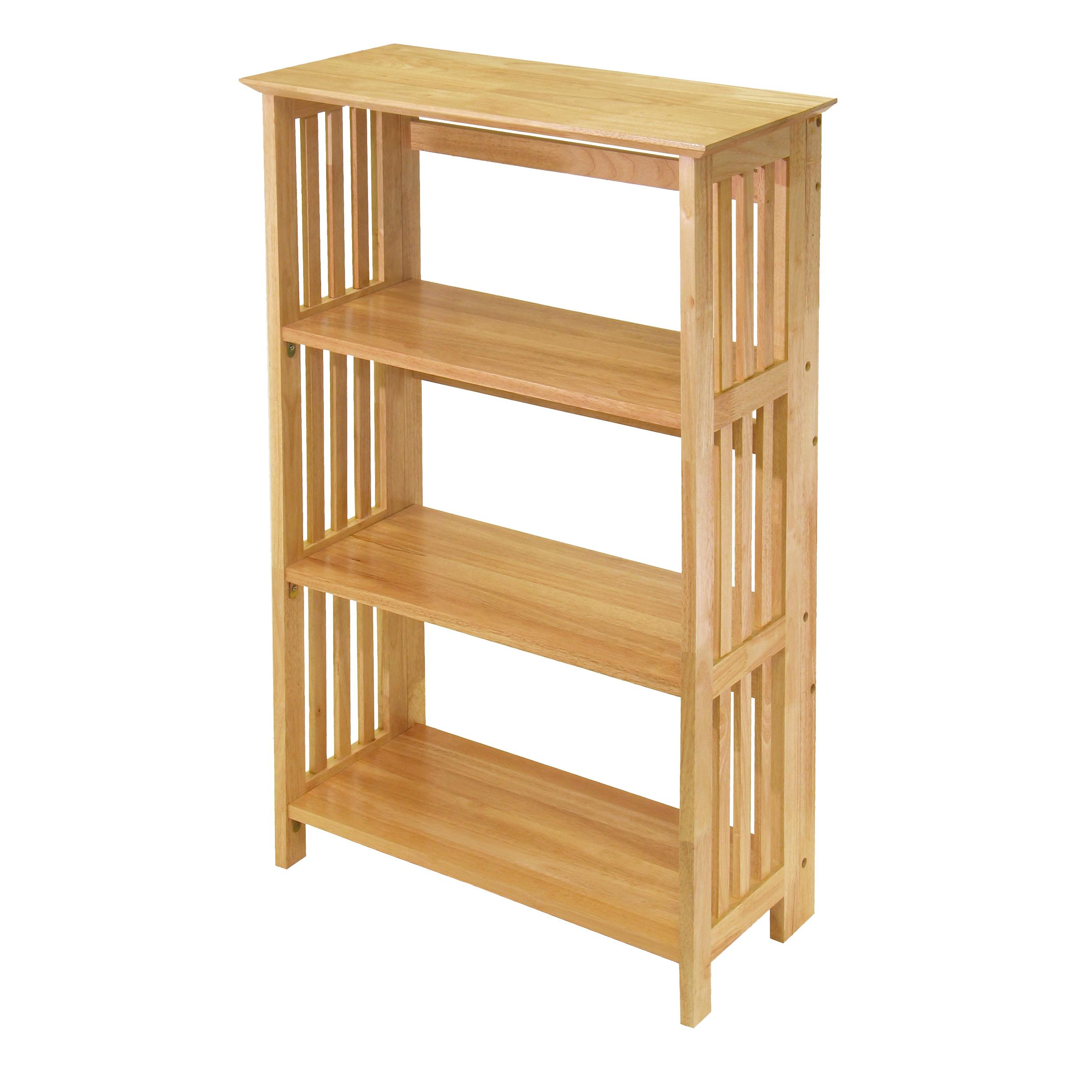 Amazon Com Winsome Wood Foldable 4 Tier Shelf Natural