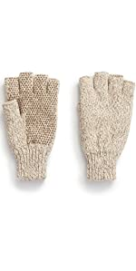 ragg wool fingerless glove mens hot shot hunting oatmeal color