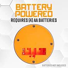 Battery powered requires (4) AA batteries not included