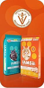 Cat Kibble, Dry Cat Food, Food for Indoor Cats, Meaty Cat Food, Chicken, Cat Food Bag, Adult Cat