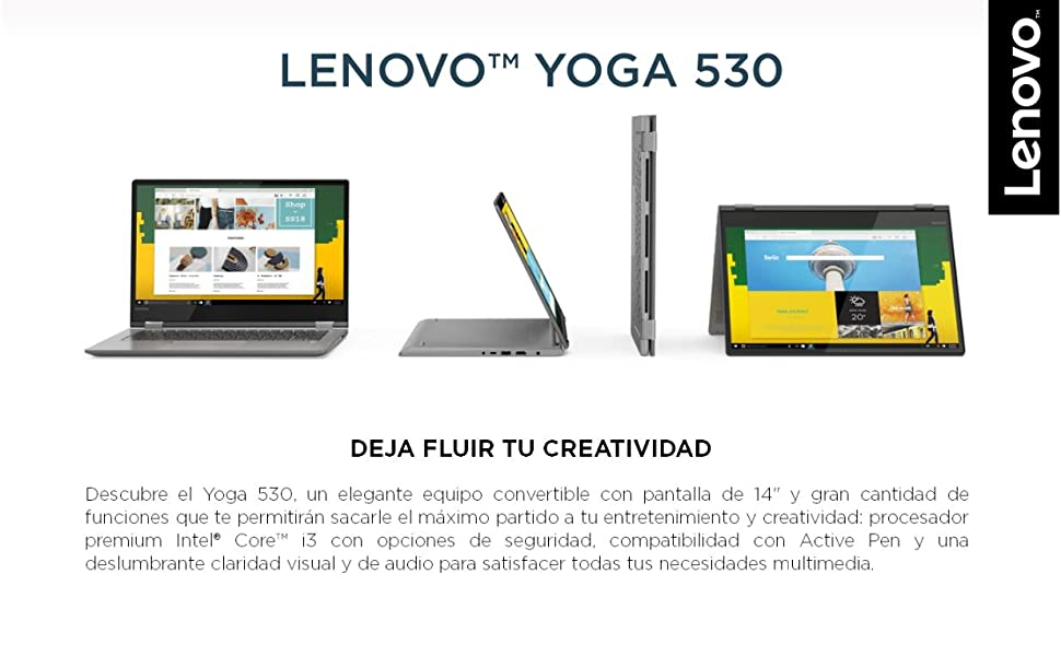 Lenovo Yoga 530-14IKB, Ordenadores Portatiles, 1, Multicolor