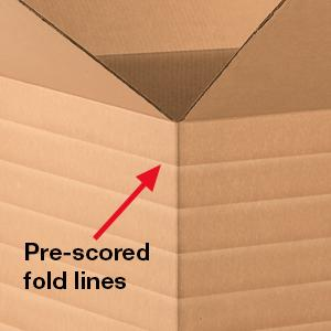 Packing and Moving Pack of 25 Kraft Aviditi MD141212 Multi-Depth Corrugated Cardboard Box 14 L x 12 W x 12 H for Shipping