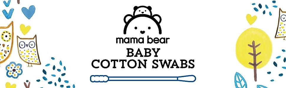 【Amazonオリジナル】mama bear ベビー綿棒 2way 160本x6個