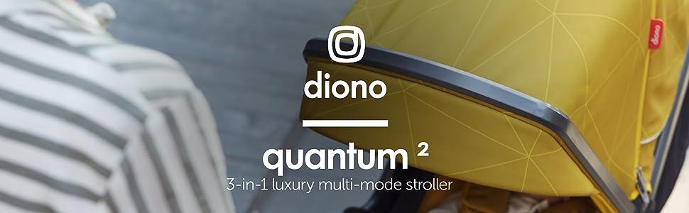 Diono Quantum2 3-in-1 Luxury Multi-Mode Stroller