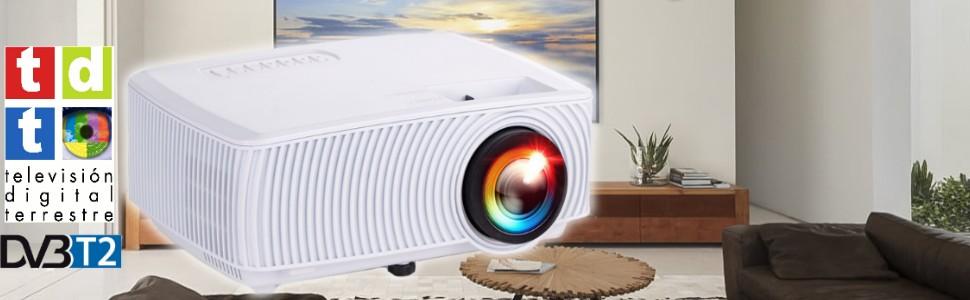 proyector seelumen pw100s color blanco con tdt de alta definicion y decodificador AC3