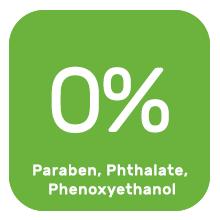 No paraben, no phtalate, no phenoxyethanol
